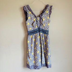 Beauty and the Beast Gray yellow dress size medium